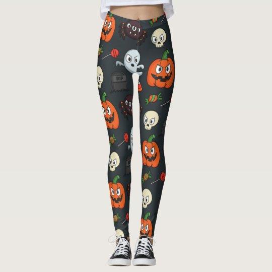 Spooky Halloween Pattern Leggings
