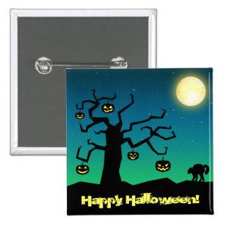 Spooky Halloween Pumpkin Tree - Button