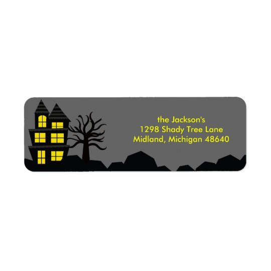 Spooky Halloween Return Address Labels