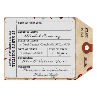 Spooky Halloween Toe Tag Custom Invitation