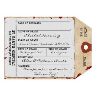 Spooky Halloween Toe Tag Custom Invitation