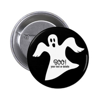 Spooky Halloween White Ghost Saying BOO! 2 Inch Round Button