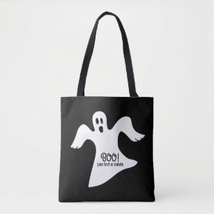 4c2df6ec20 Spooky Halloween White Ghost Saying BOO! Tote Bag