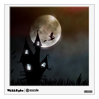 Spooky Halloween Witch Wall Decal