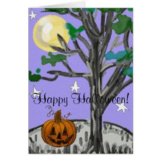 Spooky Happy Halloween Card