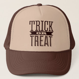 Spooky Happy Halloween Party Trick or Treat Text Trucker Hat