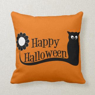 Spooky  Happy Halloween Throw Pillow
