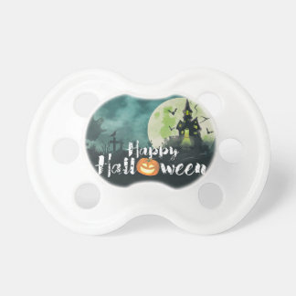 Spooky Haunted House Costume Night Sky Halloween Baby Pacifiers
