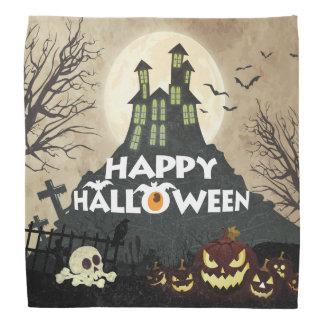 Spooky Haunted House Costume Night Sky Halloween Bandana
