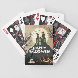 Spooky Haunted House Costume Night Sky Halloween Bicycle Playing Cards