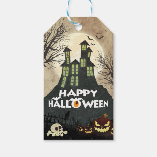 Spooky Haunted House Costume Night Sky Halloween Gift Tags