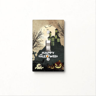 Spooky Haunted House Costume Night Sky Halloween Light Switch Cover