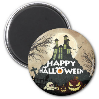 Spooky Haunted House Costume Night Sky Halloween Magnet