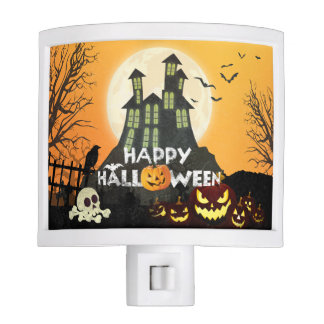 Spooky Haunted House Costume Night Sky Halloween Night Lite
