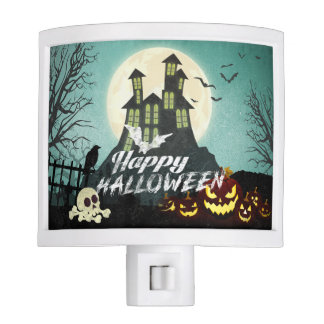 Spooky Haunted House Costume Night Sky Halloween Nite Light