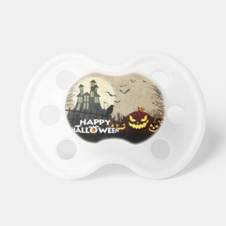 Spooky Haunted House Costume Night Sky Halloween Pacifier