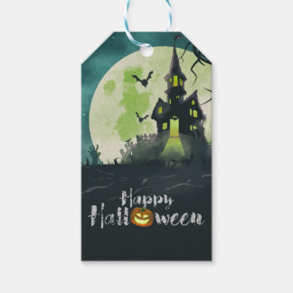 Spooky Haunted House Costume Night Sky Halloween Pack Of Gift Tags
