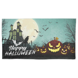 Spooky Haunted House Costume Night Sky Halloween Pillowcase