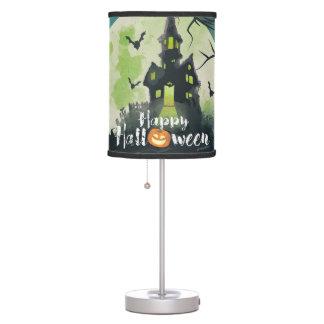 Spooky Haunted House Costume Night Sky Halloween Table Lamp