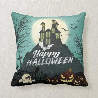 Spooky Haunted House Costume Night Sky Halloween Throw Pillow