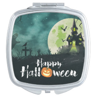 Spooky Haunted House Costume Night Sky Halloween Vanity Mirrors