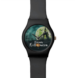 Spooky Haunted House Costume Night Sky Halloween Watch