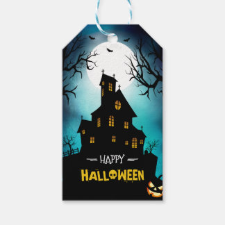 Spooky Haunted House Moonlight Happy Halloween Pack Of Gift Tags