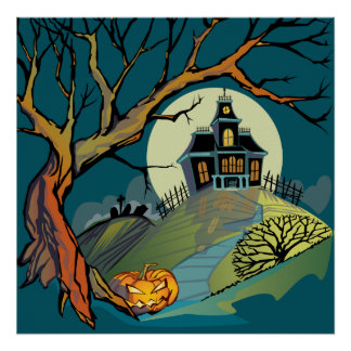 Spooky Haunted House Poster