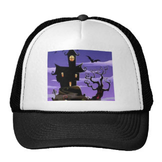 Spooky house design hat