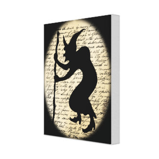 Spooky Hunched Witch Canvas Stretched Canvas Print