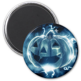 Spooky Jack-o-Lantern 2 Inch Round Magnet