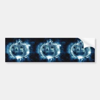 Spooky Jack-o-Lantern Bumper Sticker