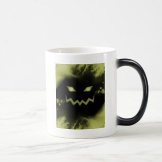 Spooky Jack O Lantern Face Blk Yellow Coffee Mugs