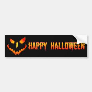 Spooky Jack O Lantern Face Car Bumper Sticker