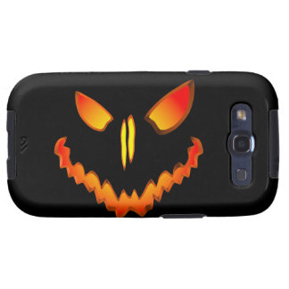 Spooky Jack O Lantern Face Samsung Galaxy SIII Case