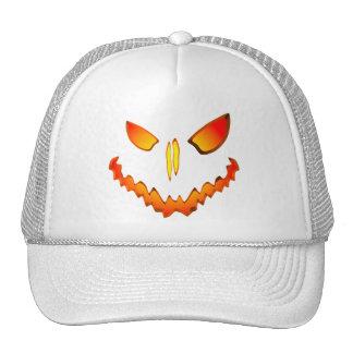 Spooky Jack O Lantern Face Trucker Hats