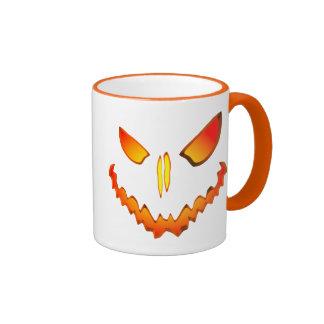 Spooky Jack O Lantern Face Coffee Mugs