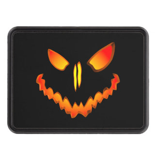 Spooky Jack O Lantern Face Trailer Hitch Cover