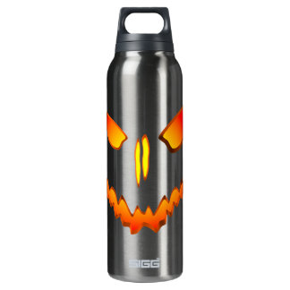 Spooky Jack O Lantern Face 16 Oz Insulated SIGG Thermos Water Bottle
