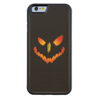Spooky Jack O Lantern Face Carved® Maple iPhone 6 Bumper