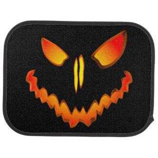 Spooky Jack O Lantern Face Floor Mat