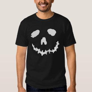 Spooky Jack-o-lantern Ghoul Face Black Shirt