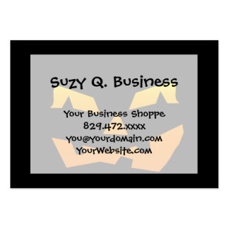 Spooky Jack O Lantern Halloween Pumpkin Face Pack Of Chubby Business Cards