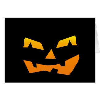 Spooky Jack O Lantern Halloween Pumpkin Face Cards