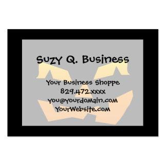 Spooky Jack O Lantern Halloween Pumpkin Face Large Business Card