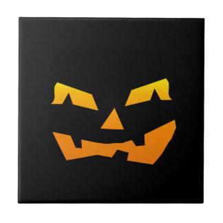 Spooky Jack O Lantern Halloween Pumpkin Face Ceramic Tiles