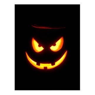Spooky Jack O Lantern Postcard