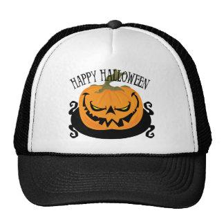 Spooky Jack-o-lantern Trucker Hat