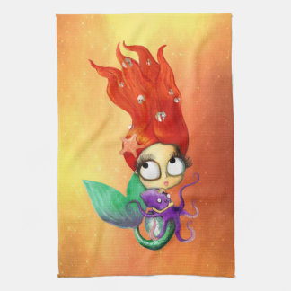 Spooky Mermaid with Octopus Hand Towels