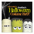 Spooky Monster & Friends Halloween Costume Party Card